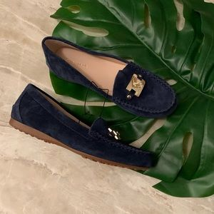 Kate spade Carson driving loafers navy suede